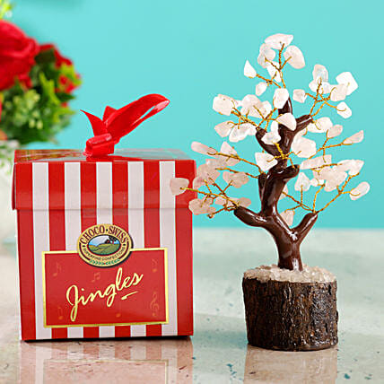 Rose Quartz Wish Tree & Choco Swiss Jingles Box