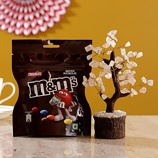 Rose Quartz Wish Tree Chocolate M Ms:Send Home Decor for Wedding