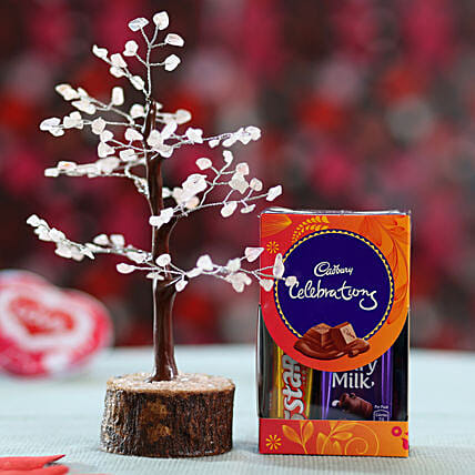 online rose wish tree with chocolates:Send Wish Trees
