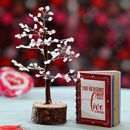 Quartz wish tree with love book online