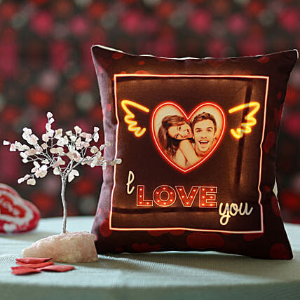 online combo of wish tree n printed cushion