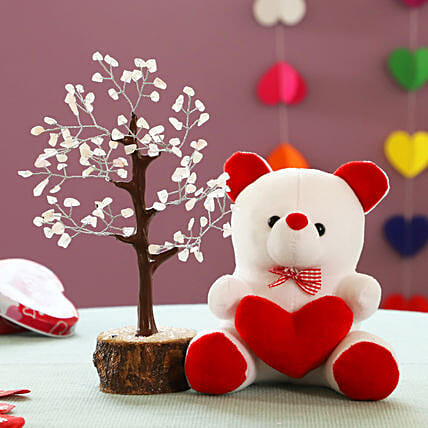 online wish tree n teddy bear combo online:Soft toys for Propose Day