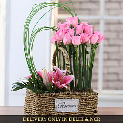 online flower basket arrangement