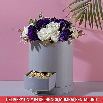Premium Roses and Chocolate Combo Online