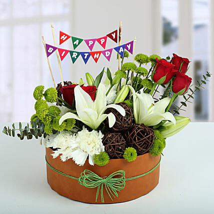 Happy Birthday Flowers:Send Chrysanthemums