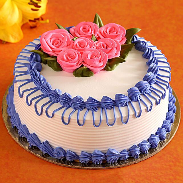 rose theme cake online