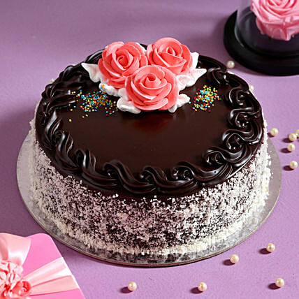 Rose Topper Chocolate Cake Online