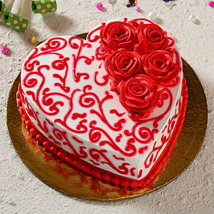 heart shape cake online:Marriage Anniversary Gifts