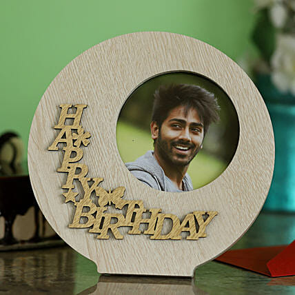 Round Birthday Photo Frame For Him