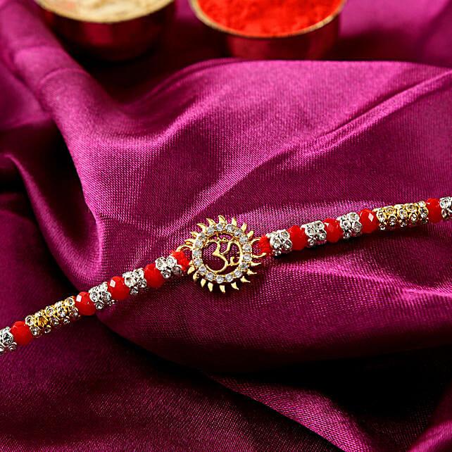 Round Designer Om Rakhi