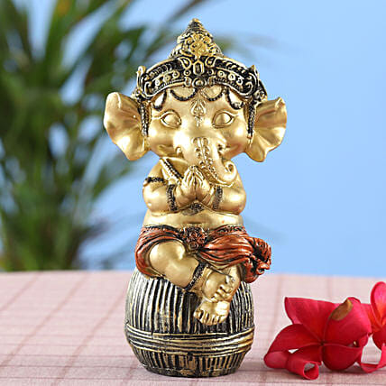 online Royal Golden Bal Ganesha Idol