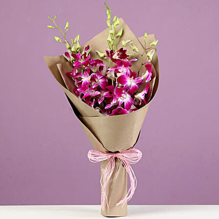 orchids bunch bouquet online