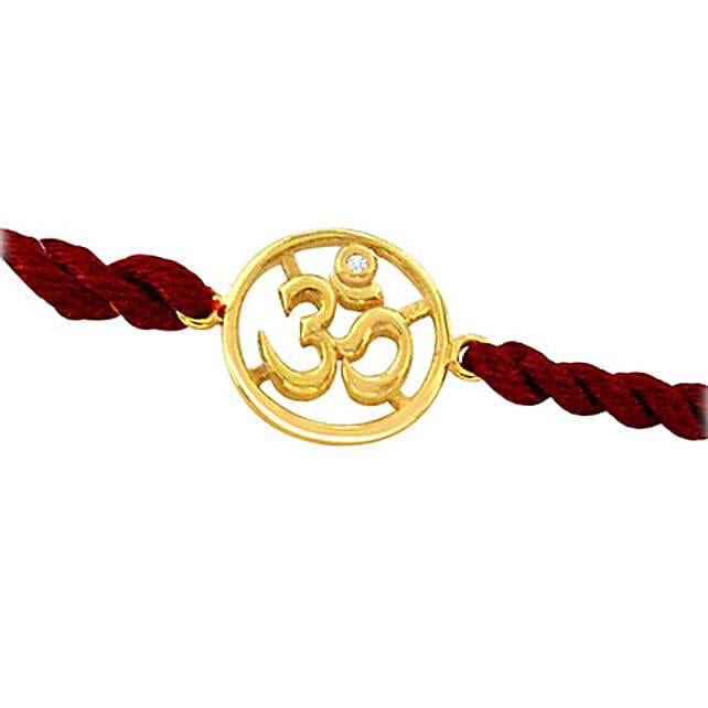 Sacred Om Gold Rakhi