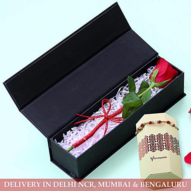 Rakhi with Rose Box Online