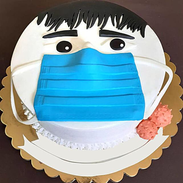 Designer Face Mask Cake Online