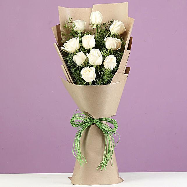Buy White Roses:White Flowers