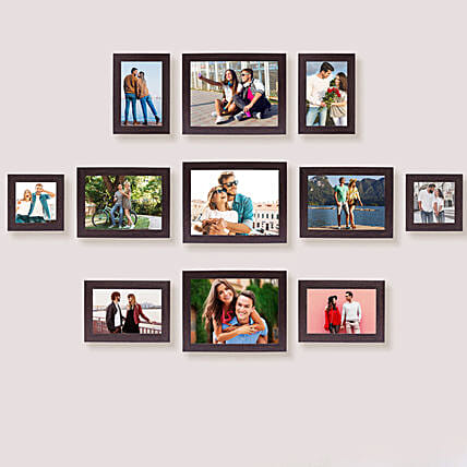11 photo frame set