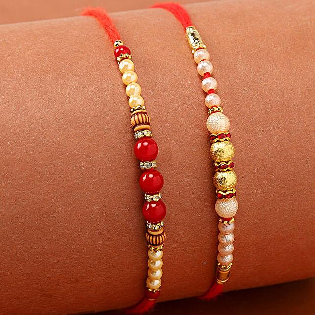 beads pearl rakhis online