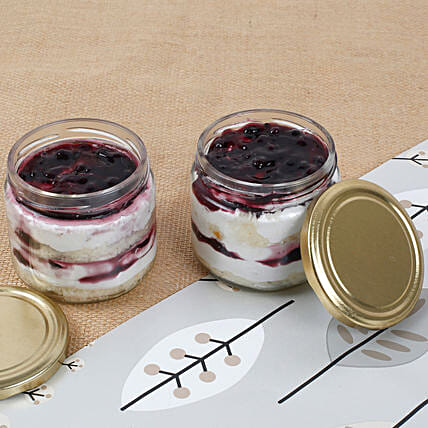 Mysterious Blueberry Jar Cake:Jar Cakes