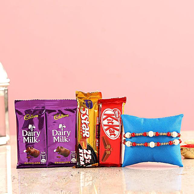 Rakhi and Chocolate In Bag Online