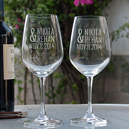 Personalised Wine  Glasses For Him