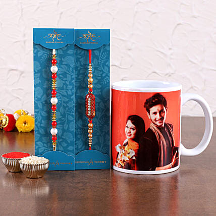 Online Rakhis with Photo Mug For Bhai