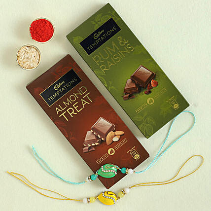 online set of rakhis with chocolate for bro
