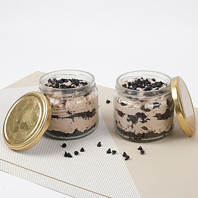 Vivacious Chocolate Jar Cake:Jar Cakes