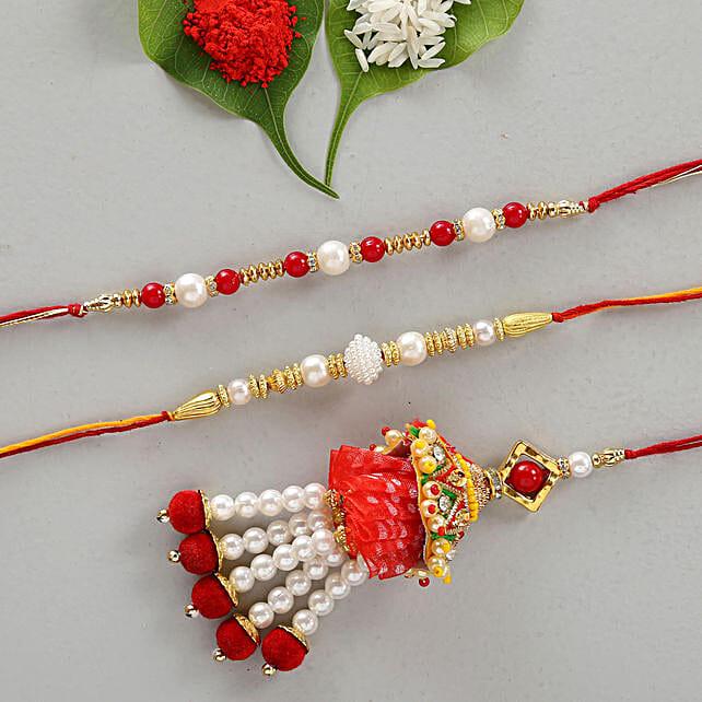 Set Of 3 Enchanting Designer Rakhis