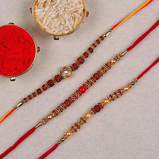 3 rakhi combo online:Rakhi Set of 3