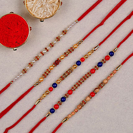 set of 5 rakhis combo