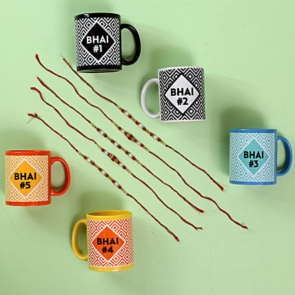 Online Set Of Rakhi With Set Of Mugs