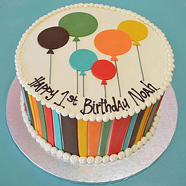Shades Of Balloons Cake 2Kg Vanilla