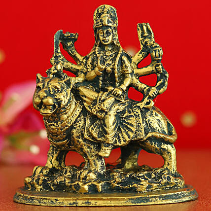 Sherowali Maa Durga Antique Idol:Navratri Gifts