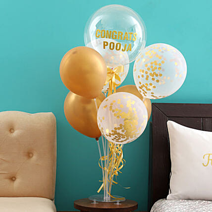Shining Congratulations Balloon Bouquet for Her
