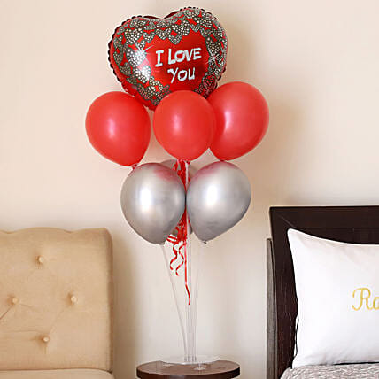 Shining Love Balloon Bouquet:Valentines Day Balloon Decorations