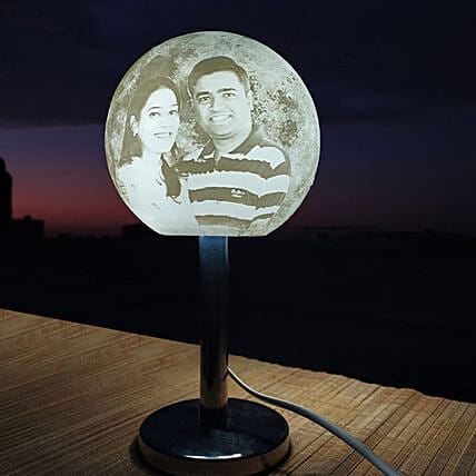 Personalised Photo Moon Lamp Online