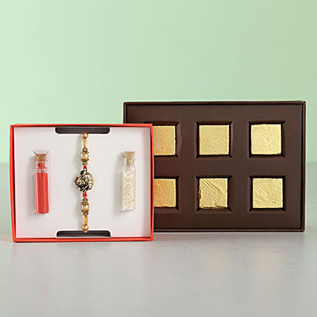 devotional rakhi with chocolates online
