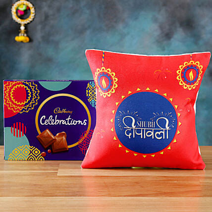 Send Online Cushion with Chocolates