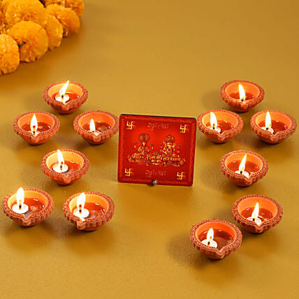 Send Table Top with Diya Set
