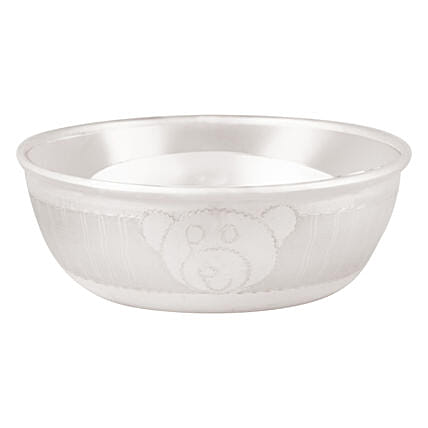 Cute Silver Baby Bowl Online