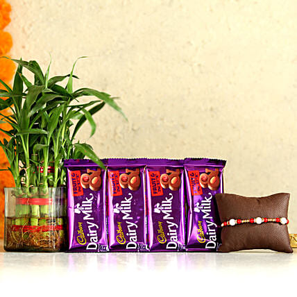 Single Rakhi & Two Layer Bamboo With Dairy Milk