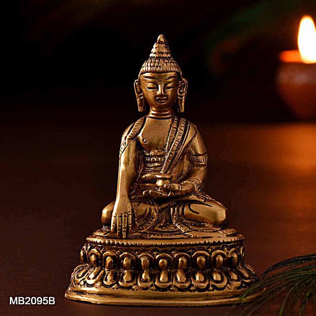 Sitting Buddha Oval Base Idol