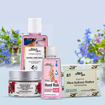 Organic Skin Care Kit for Her:Send Cosmetics & Spa Hampers