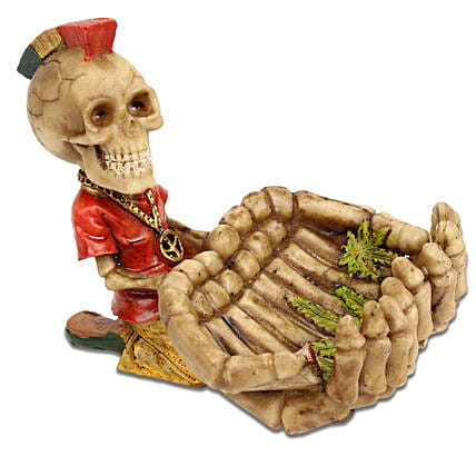Skull Ashtray  Red