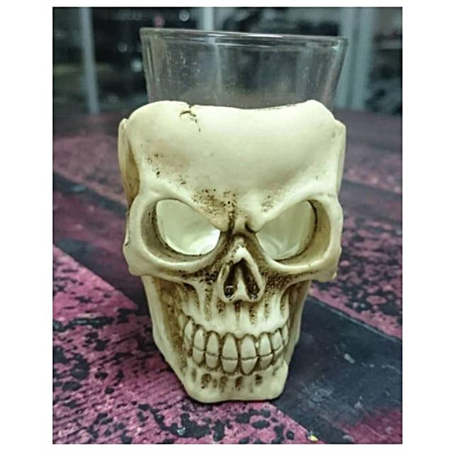 Skull Shot Glass Gothic Set Of 4