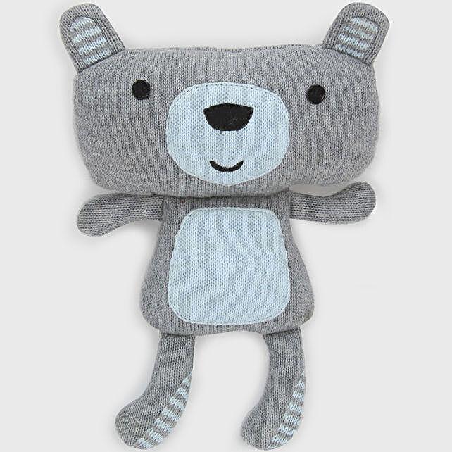 Online Sky Blue And Teddy Soft Toy:Send Soft toys to Kolkata