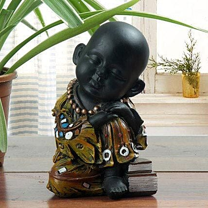 Sleeping monk showpiece:Feng Shui Gifts