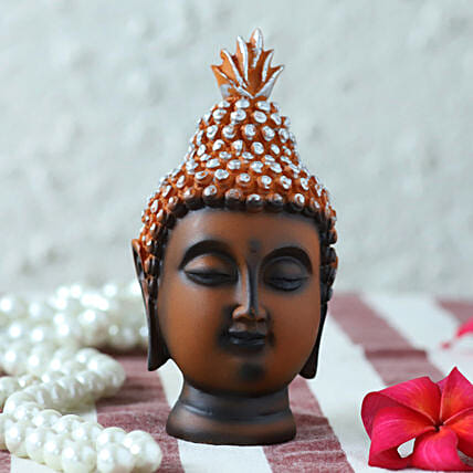 small buddha head idol