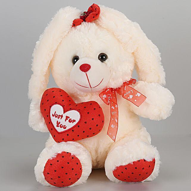 Bunny bow teddy bear